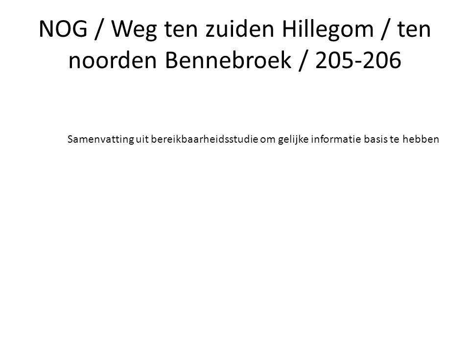 NOG / Weg ten zuiden Hillegom / ten noorden Bennebroek / 205-206