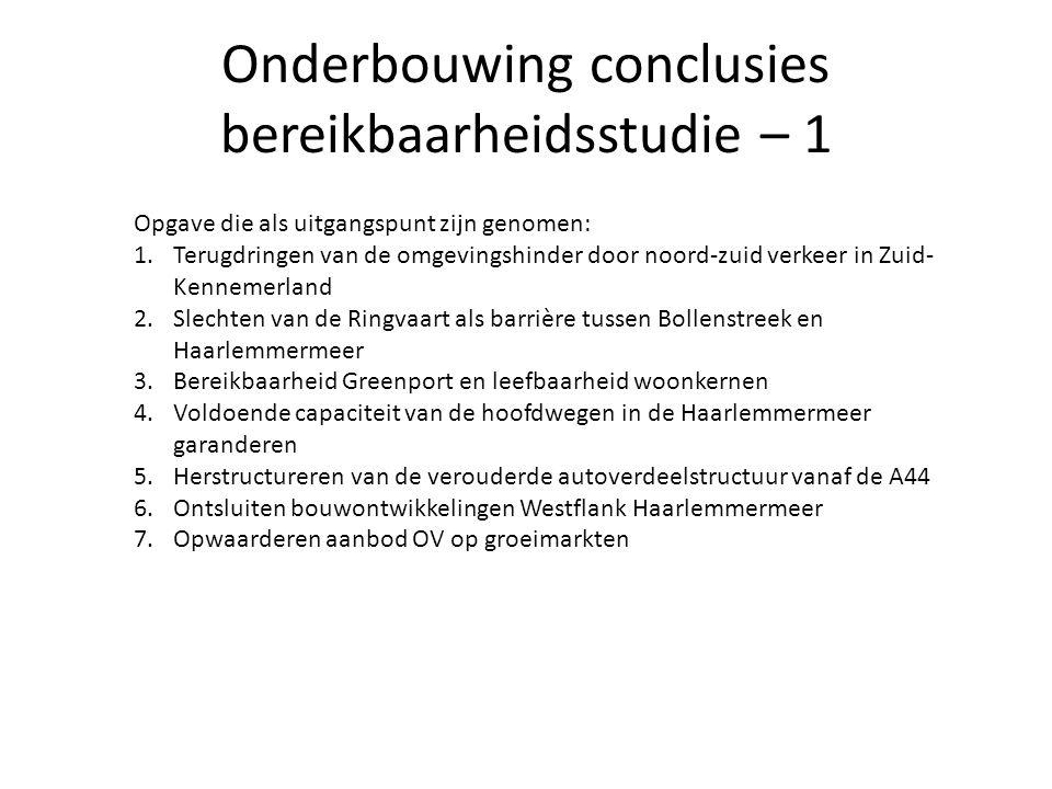 Onderbouwing conclusies bereikbaarheidsstudie – 1