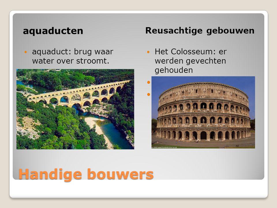 Handige bouwers aquaducten Reusachtige gebouwen