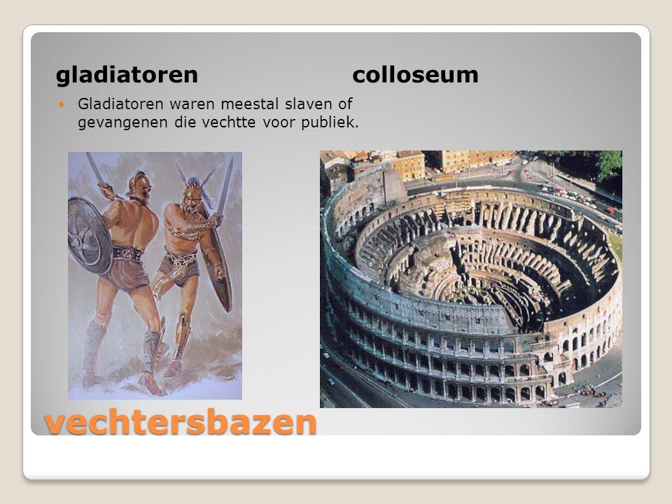 vechtersbazen gladiatoren colloseum
