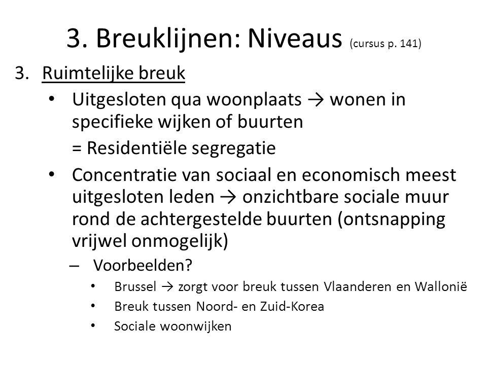 3. Breuklijnen: Niveaus (cursus p. 141)