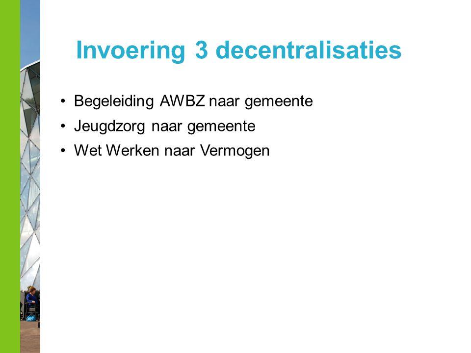 Invoering 3 decentralisaties