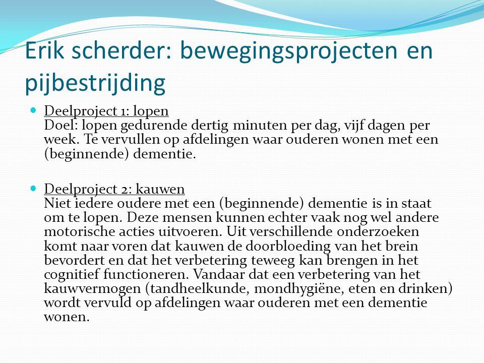 Erik scherder: bewegingsprojecten en pijbestrijding