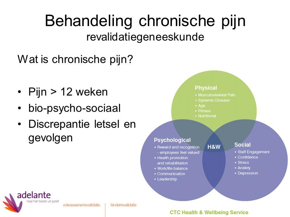 Behandeling chronische pijn revalidatiegeneeskunde