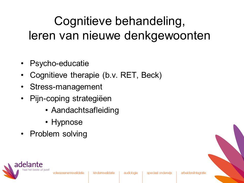 Cognitieve behandeling, leren van nieuwe denkgewoonten