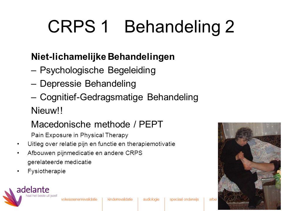 CRPS 1 Behandeling 2 Niet-lichamelijke Behandelingen