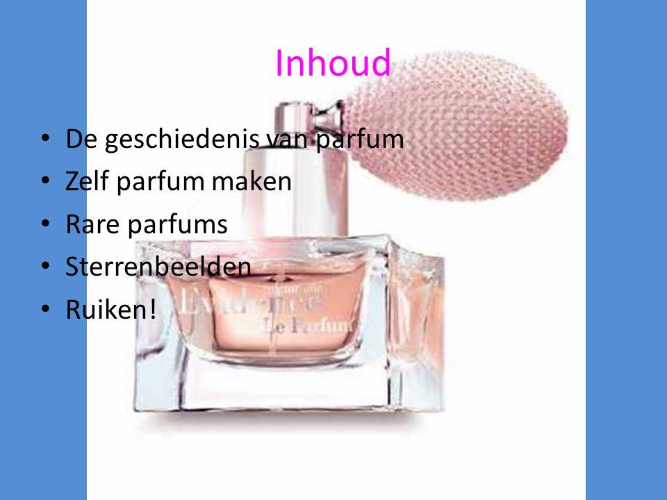 Inhoud De geschiedenis van parfum Zelf parfum maken Rare parfums