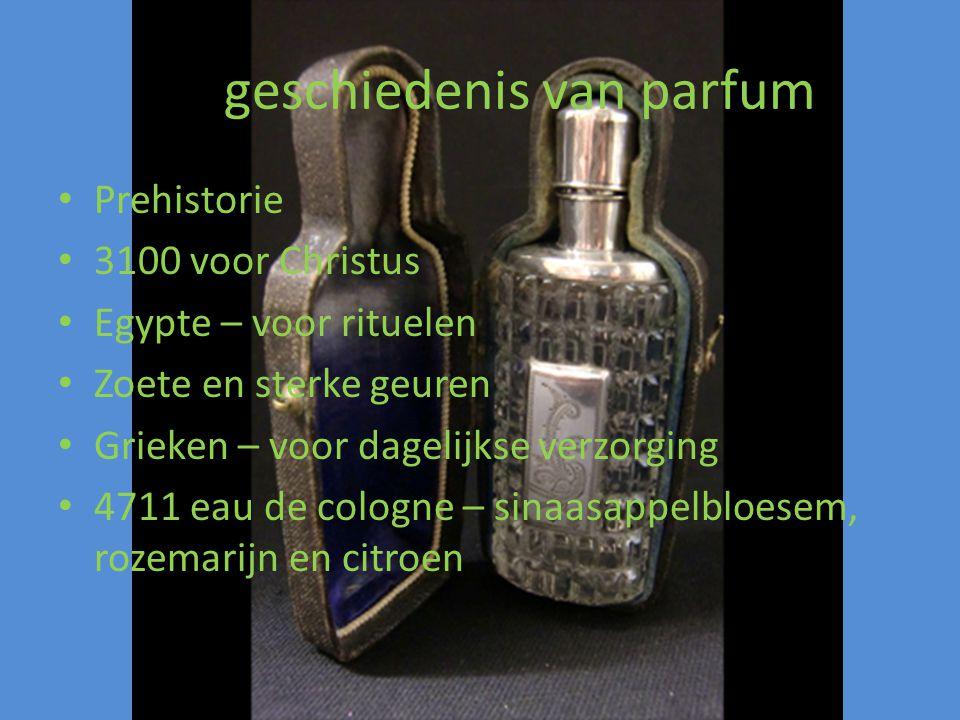 De geschiedenis van parfum
