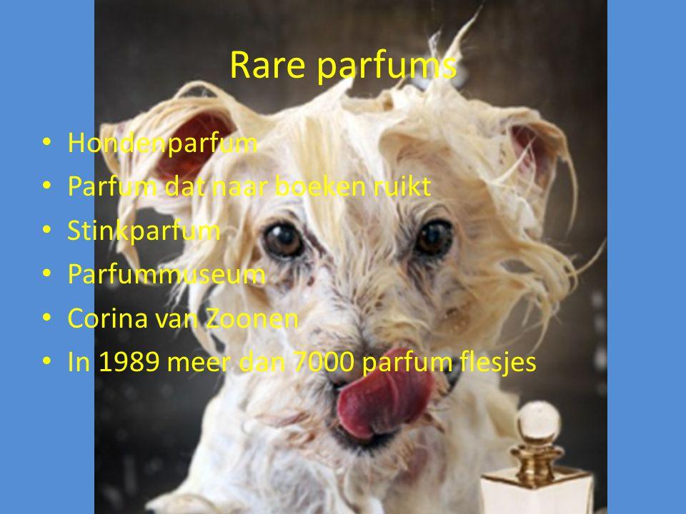 Rare parfums Hondenparfum Parfum dat naar boeken ruikt Stinkparfum