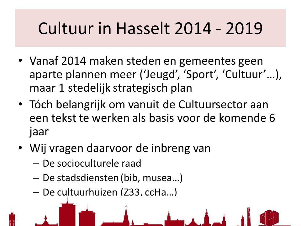 Cultuur in Hasselt 2014 - 2019
