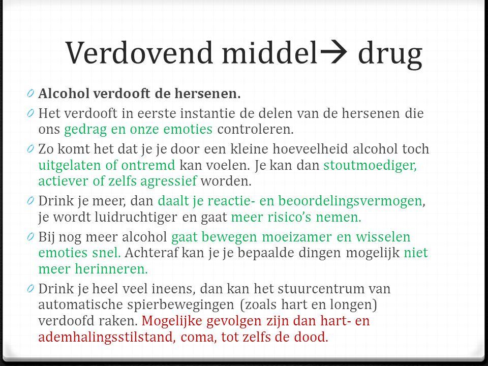 Verdovend middel drug