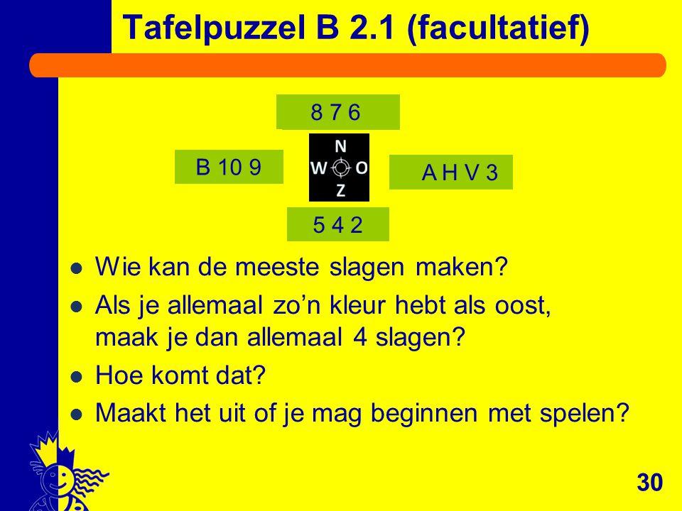Tafelpuzzel B 2.1 (facultatief)