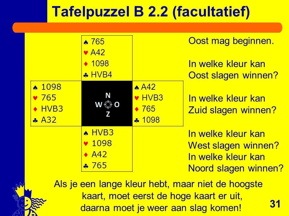 Tafelpuzzel B 2.2 (facultatief)