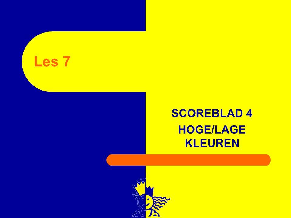 SCOREBLAD 4 HOGE/LAGE KLEUREN