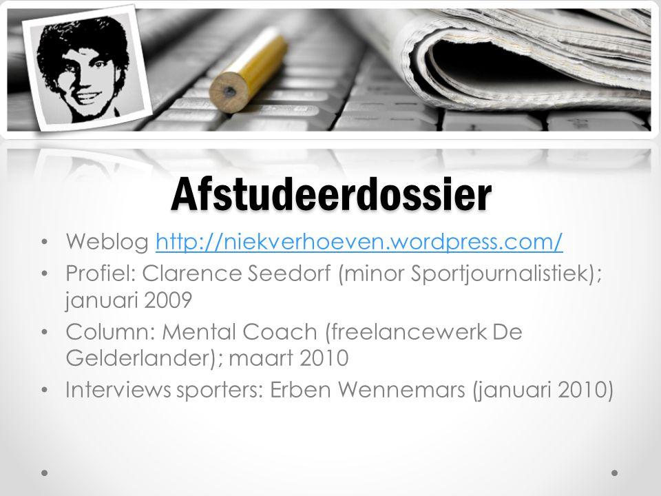 Afstudeerdossier Weblog http://niekverhoeven.wordpress.com/