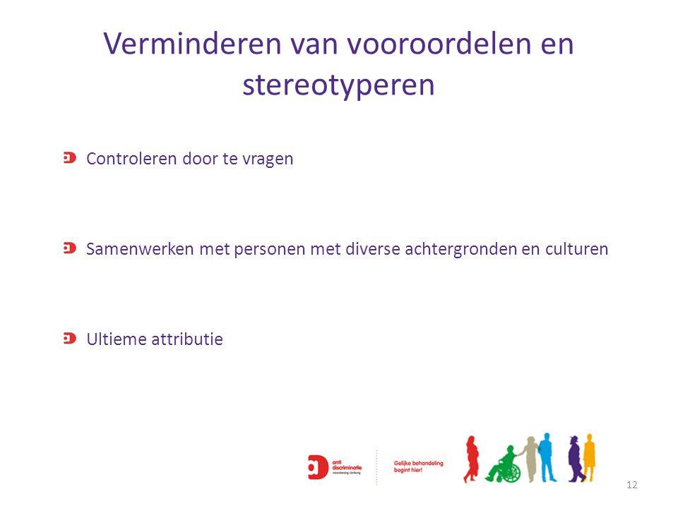 Verminderen van vooroordelen en stereotyperen