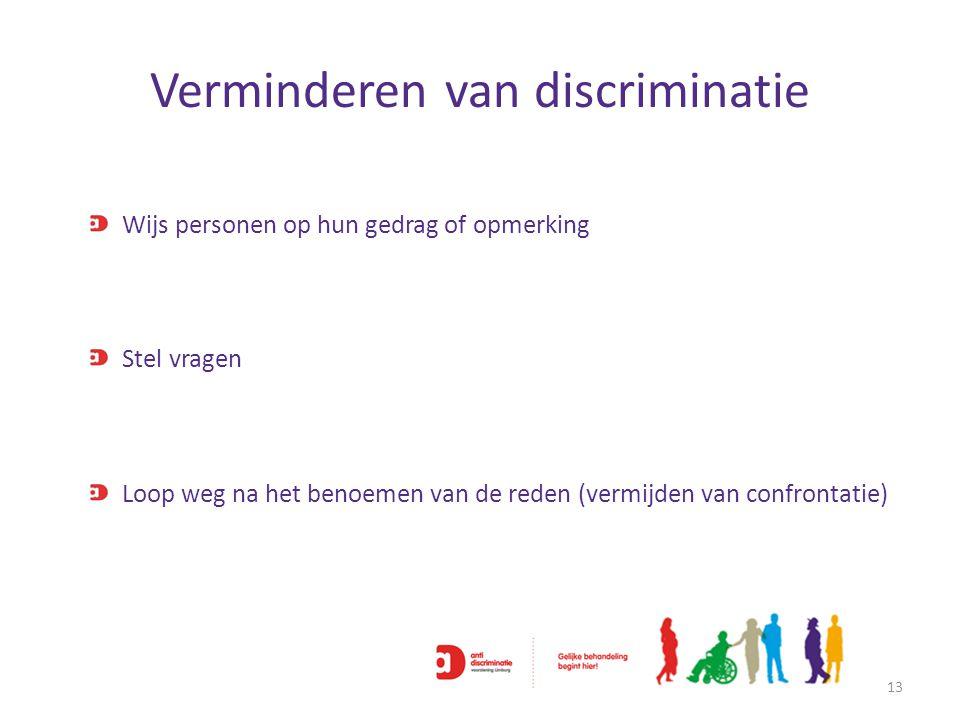 Verminderen van discriminatie