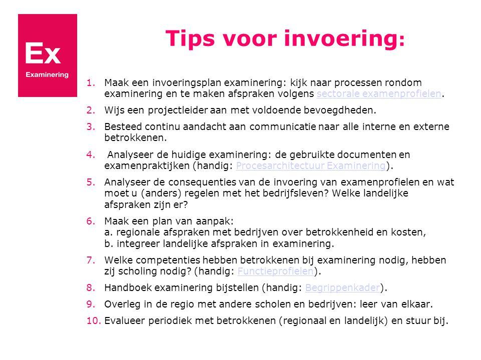 Tips voor invoering: