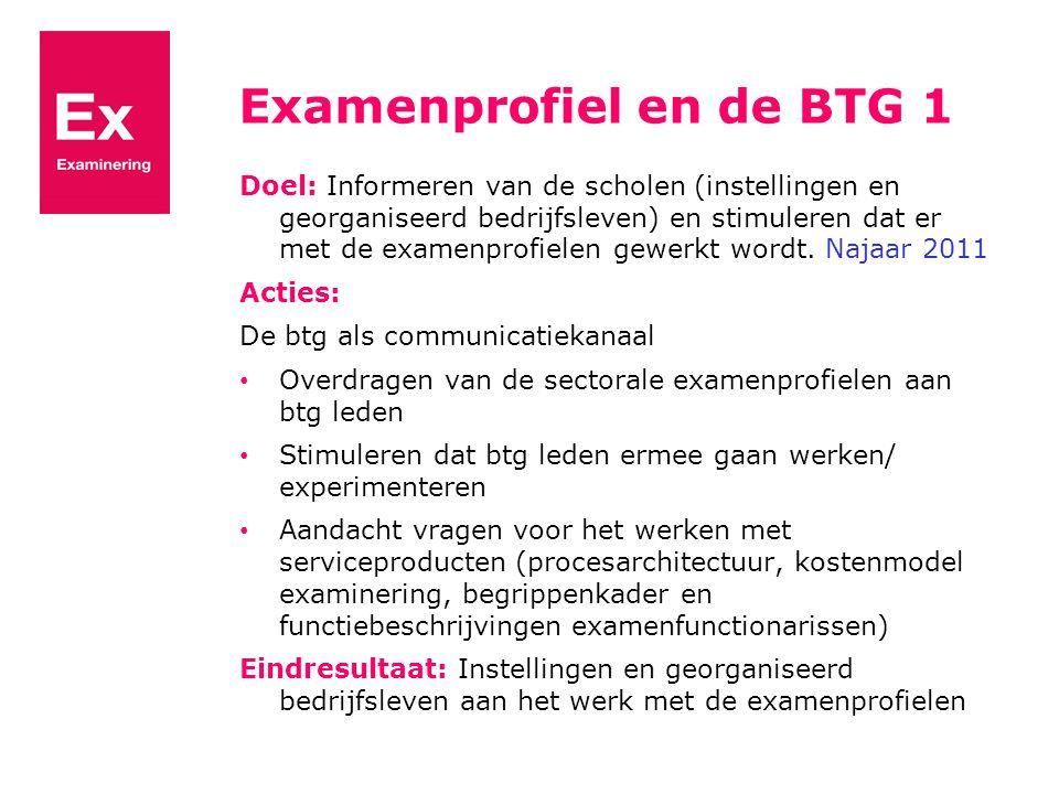 Examenprofiel en de BTG 1