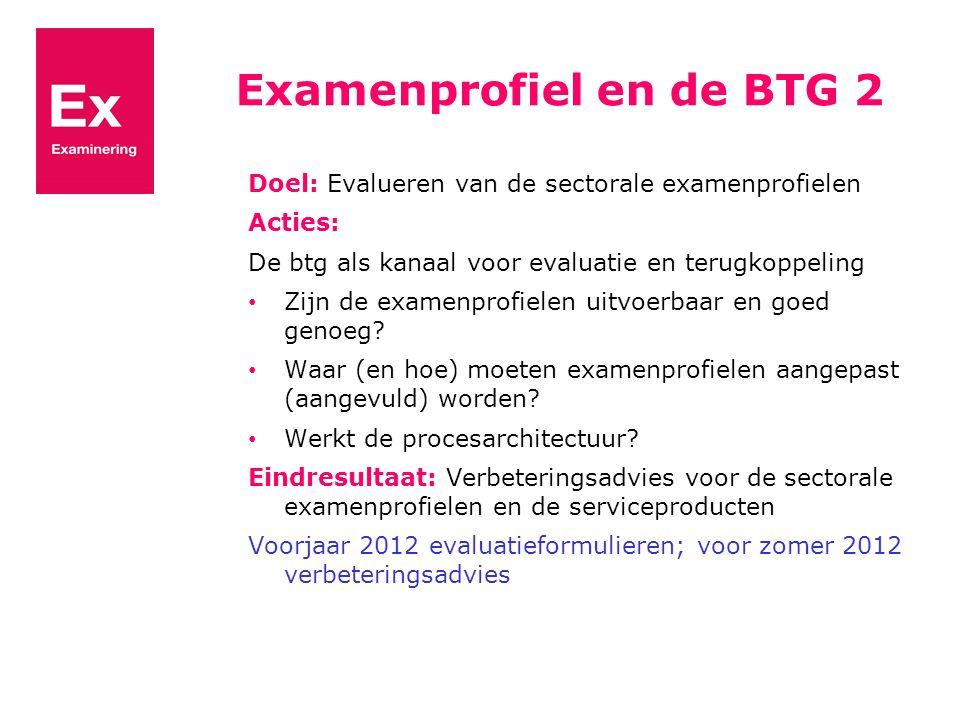 Examenprofiel en de BTG 2