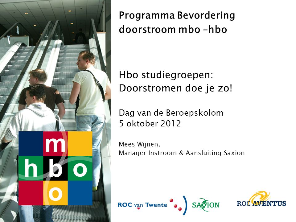 Programma Bevordering doorstroom mbo –hbo