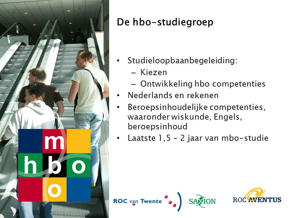 De hbo-studiegroep Studieloopbaanbegeleiding: Kiezen