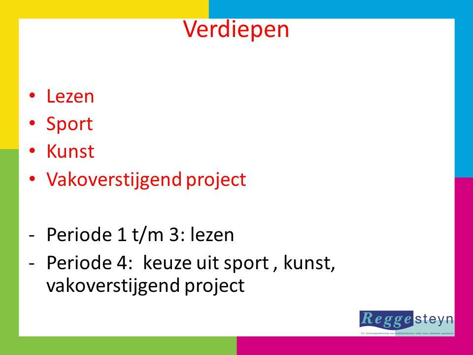Verdiepen Lezen Sport Kunst Vakoverstijgend project