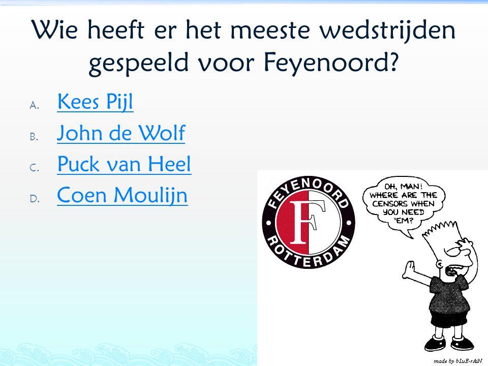 Wie heeft er het meeste wedstrijden gespeeld voor Feyenoord