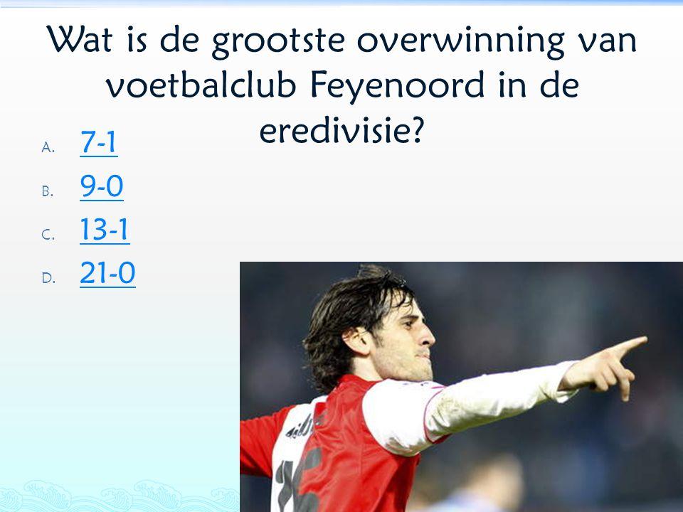 Wat is de grootste overwinning van voetbalclub Feyenoord in de eredivisie