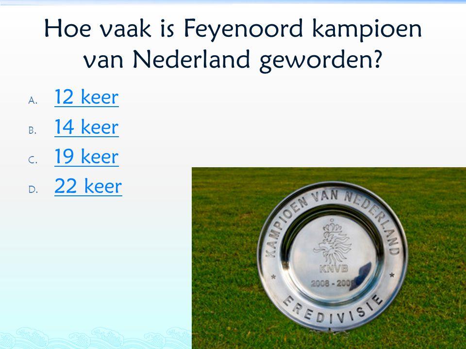 Hoe vaak is Feyenoord kampioen van Nederland geworden