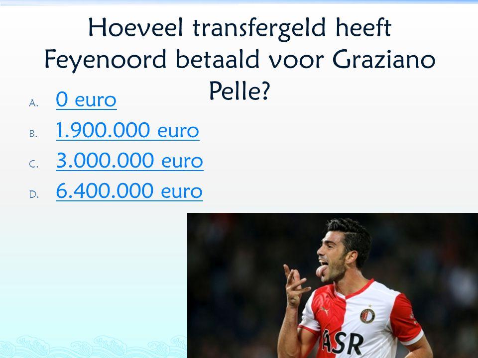 Hoeveel transfergeld heeft Feyenoord betaald voor Graziano Pelle