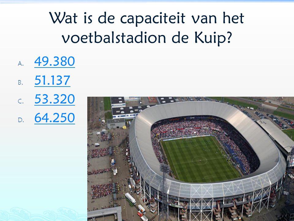 Wat is de capaciteit van het voetbalstadion de Kuip