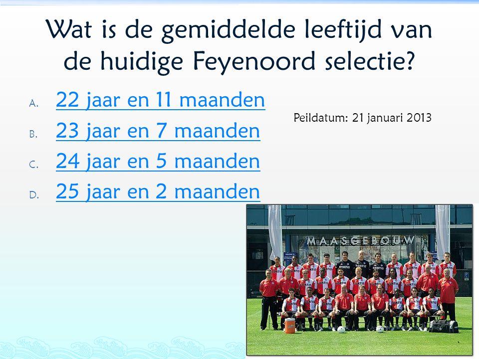 Wat is de gemiddelde leeftijd van de huidige Feyenoord selectie