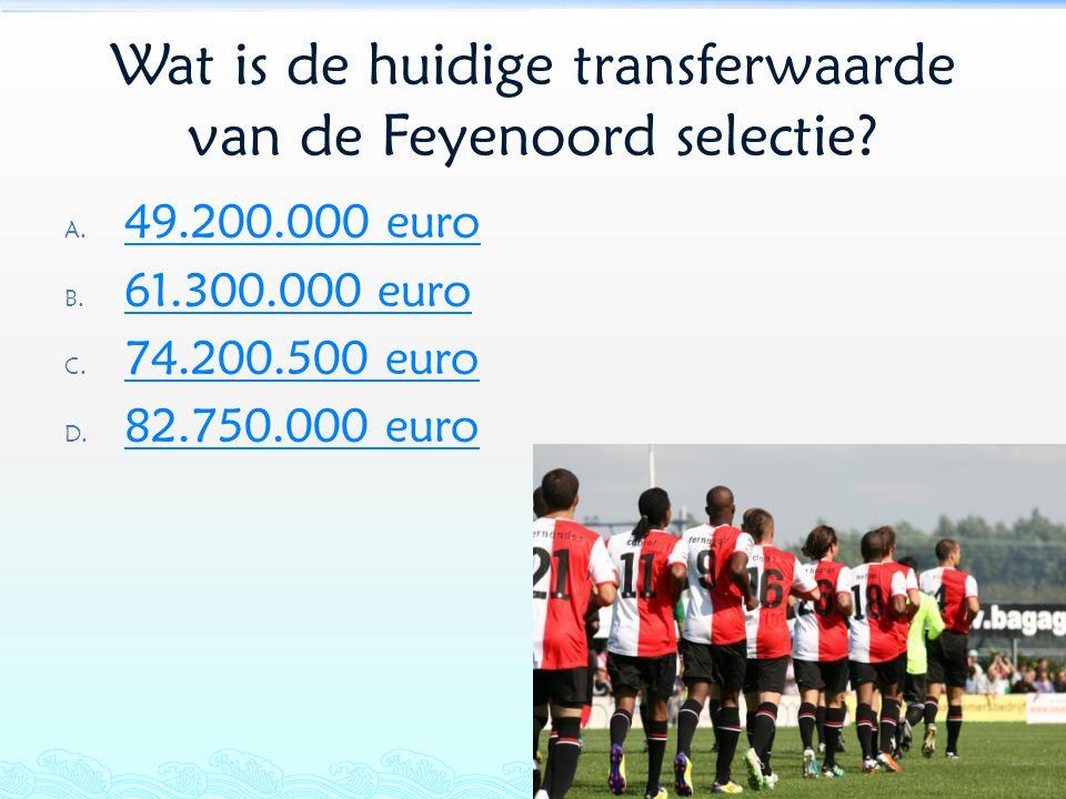 Wat is de huidige transferwaarde van de Feyenoord selectie