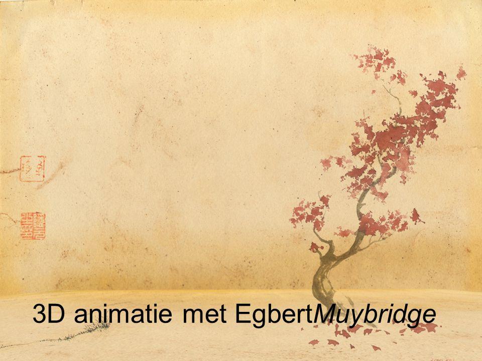 3D animatie met EgbertMuybridge