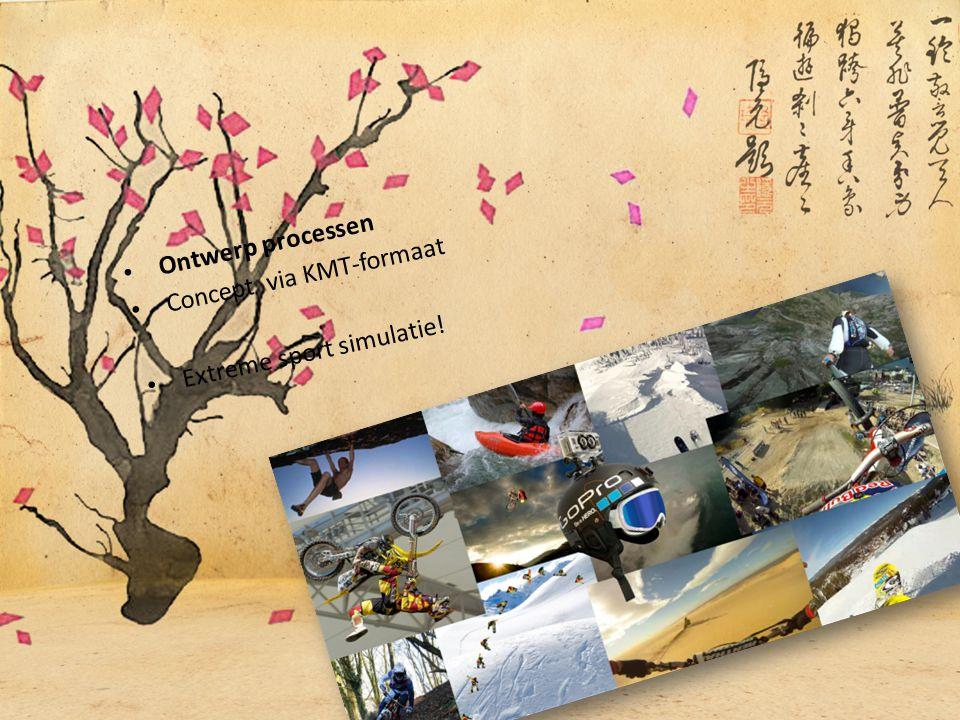Ontwerp processen Concept via KMT-formaat Extreme sport simulatie!