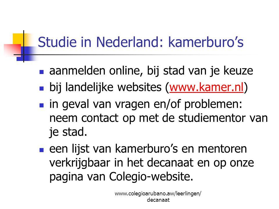 Studie in Nederland: kamerburo's