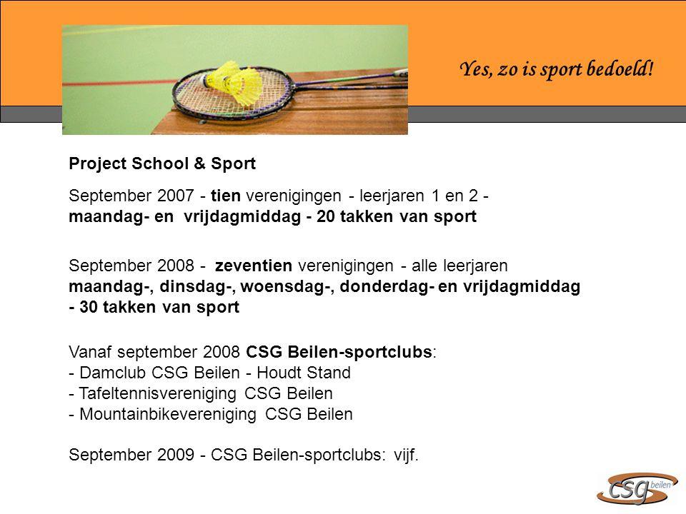 Yes, zo is sport bedoeld! Project School & Sport