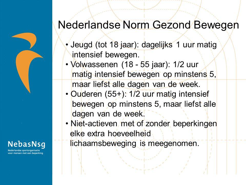 Nederlandse Norm Gezond Bewegen