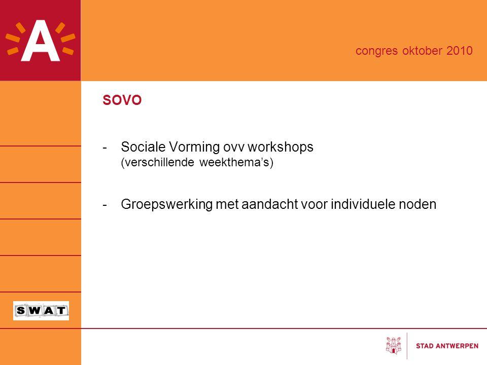 Sociale Vorming ovv workshops (verschillende weekthema's)