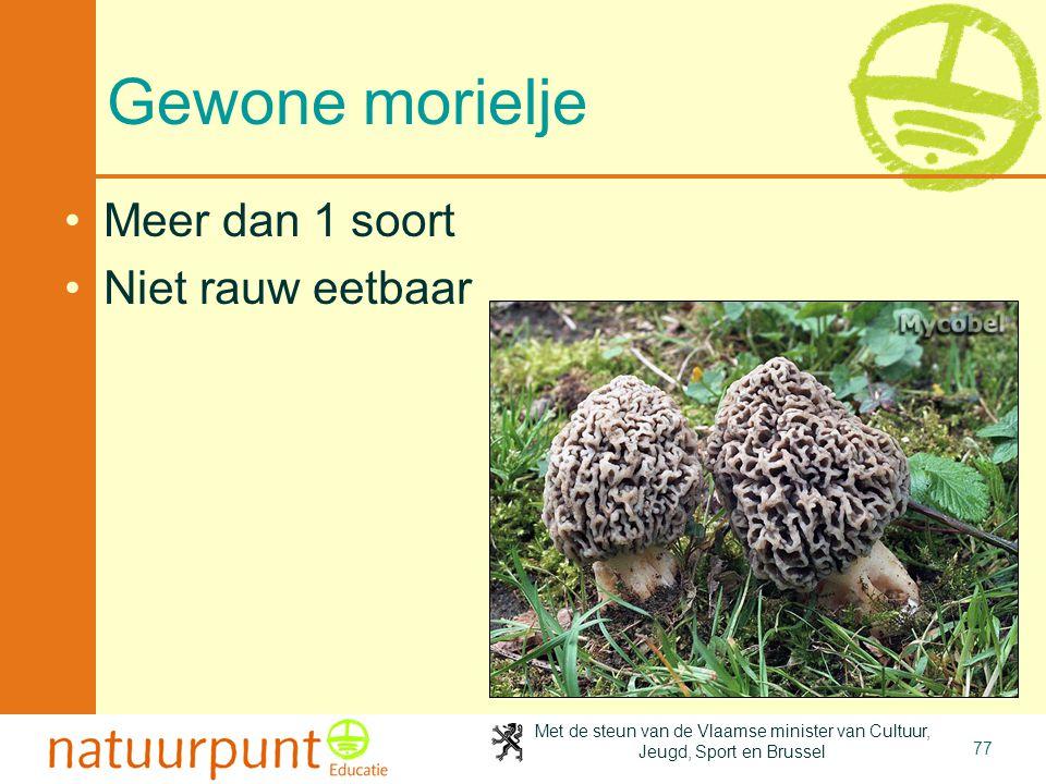 4-4-2017 Gewone morielje Meer dan 1 soort Niet rauw eetbaar