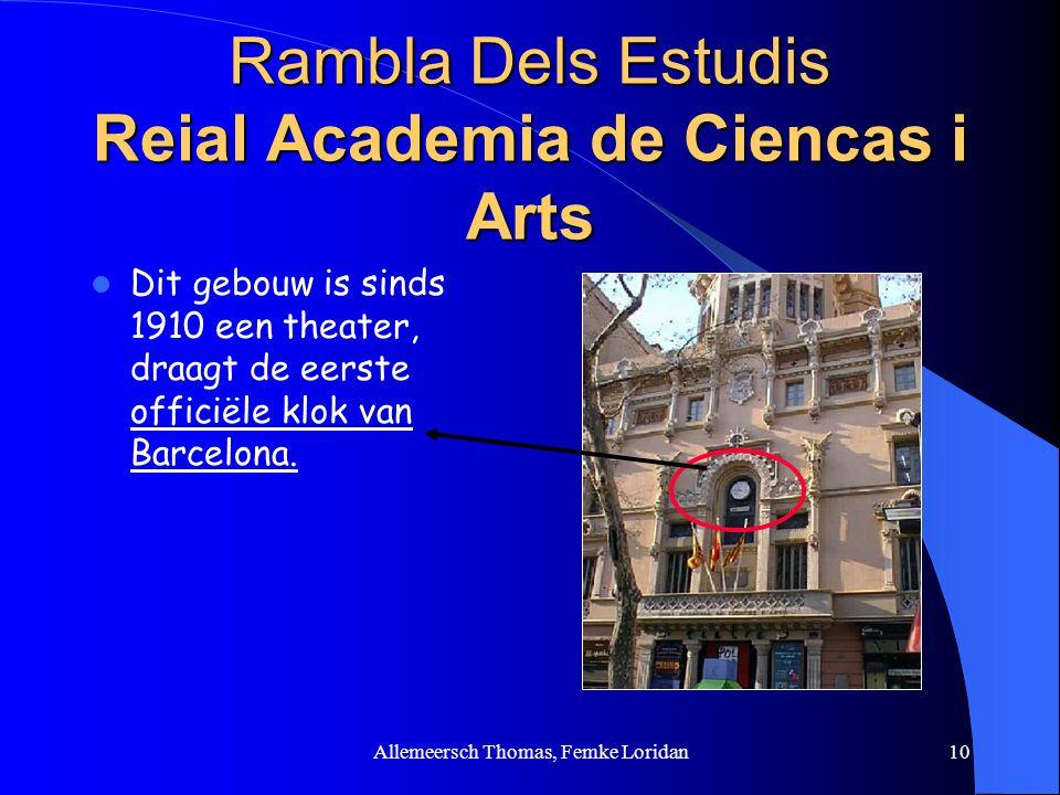 Rambla Dels Estudis Reial Academia de Ciencas i Arts