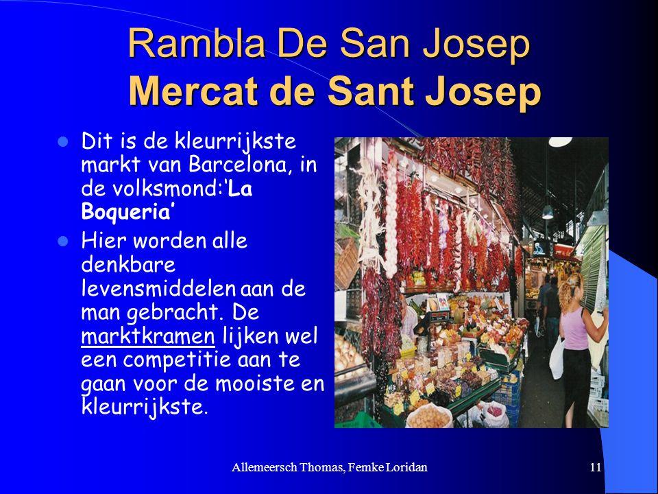Rambla De San Josep Mercat de Sant Josep