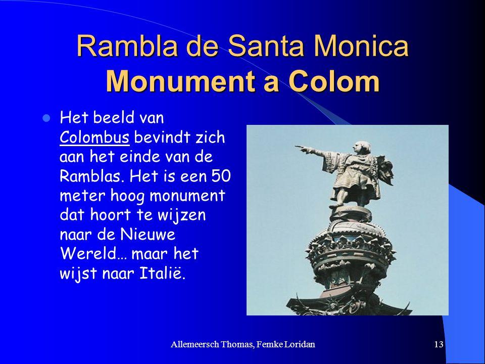 Rambla de Santa Monica Monument a Colom