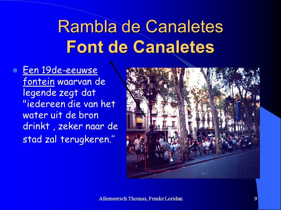 Rambla de Canaletes Font de Canaletes