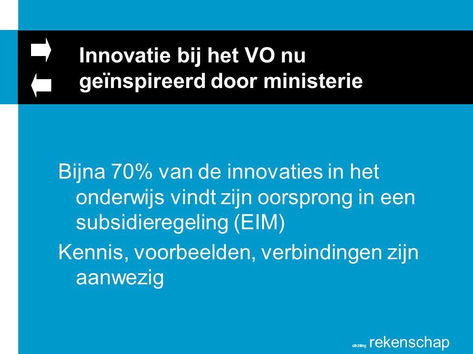 Innovatie bij het VO nu geïnspireerd door ministerie