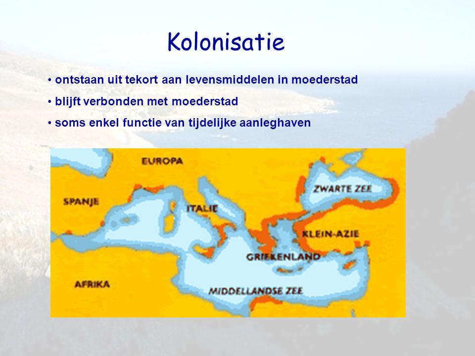 Kolonisatie ontstaan uit tekort aan levensmiddelen in moederstad