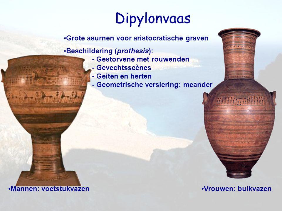 Dipylonvaas Grote asurnen voor aristocratische graven