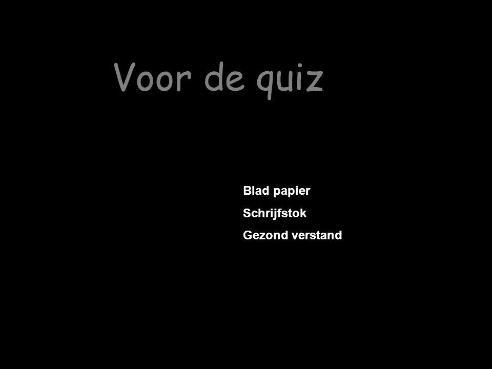 Voor de quiz Blad papier Schrijfstok Gezond verstand