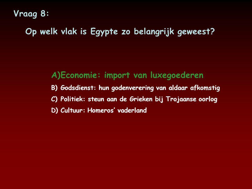 Op welk vlak is Egypte zo belangrijk geweest